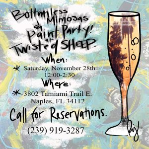 Unlimited Mimosas, Painting, and Pizza Party
