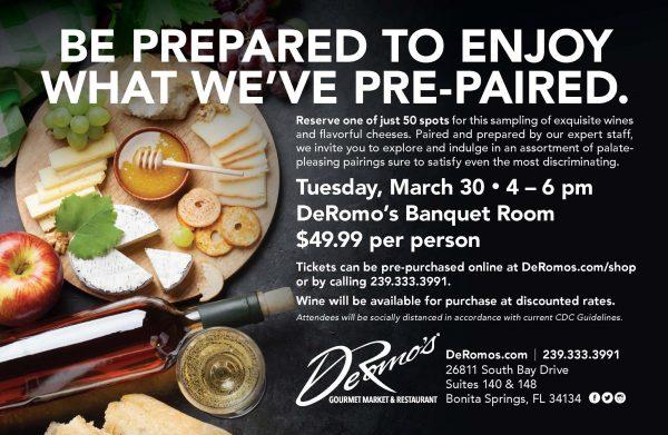 DeRomo's Wine and Cheese Pairing