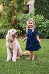 Bentley and Isla Gordon in the backyard, Photo by Vanessa Rogers
