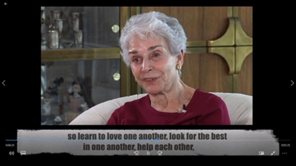 Fritzi Thorner, of Naples, provides a survivor oral history