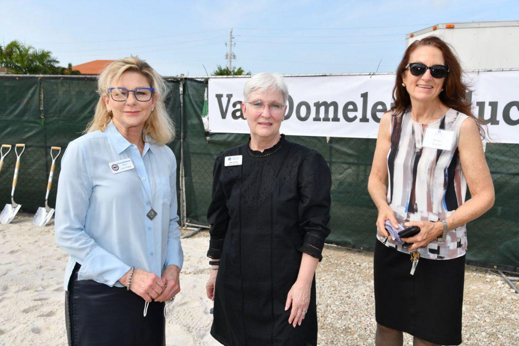 Naples Mayor Teresa Heitmann, Neighborhood Health Clinic CEO Leslie Lascheid, and Collier County Commissioner Penny Taylorat the Neighborhood Health Clinic groundbreaking ceremony