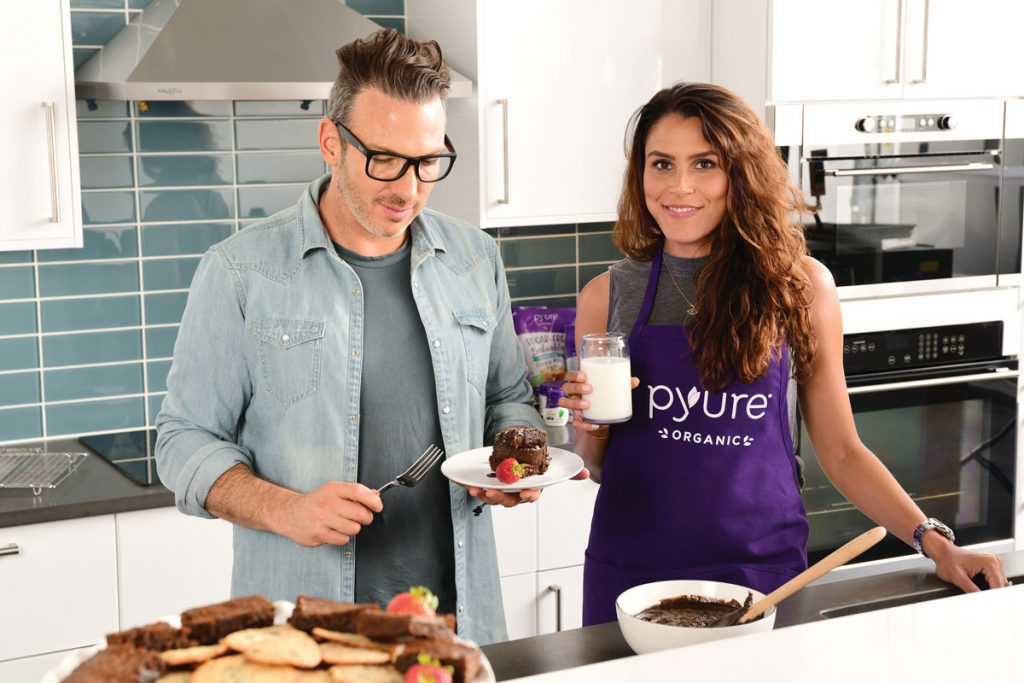 the Fleischers experimenting with new Pyure products, Photo by Vanessa Rogers