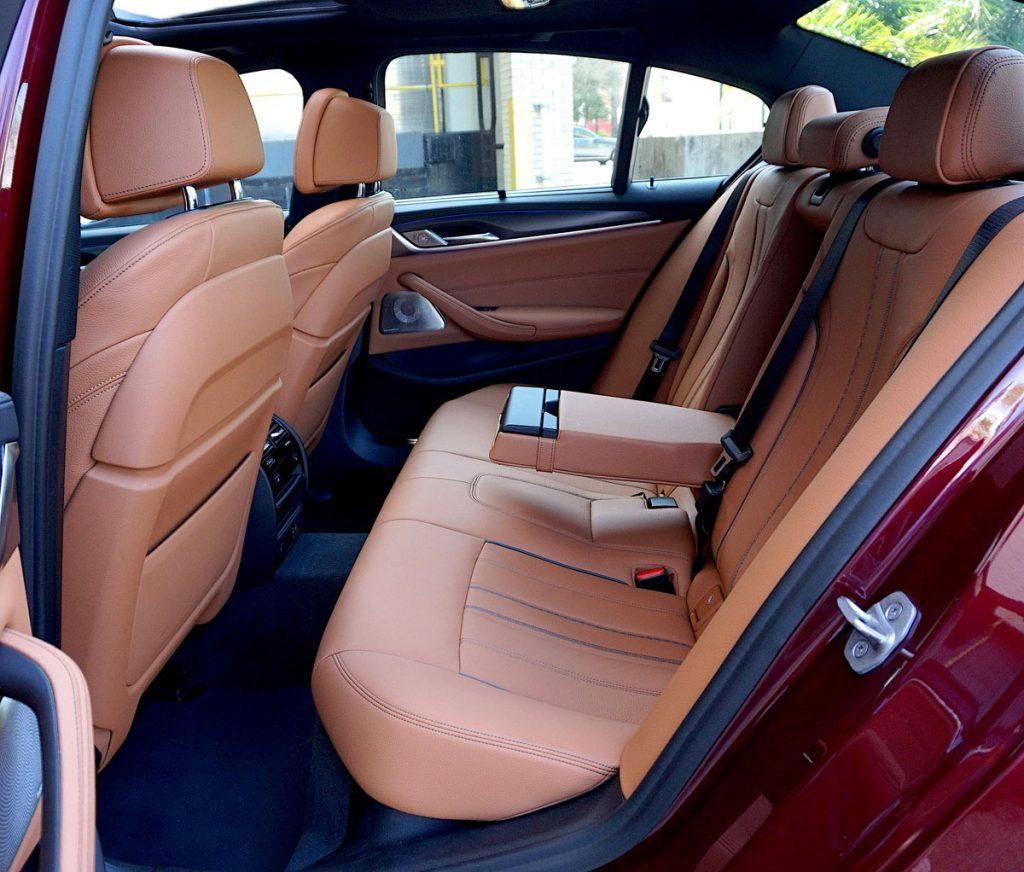 BMW 550i back seats