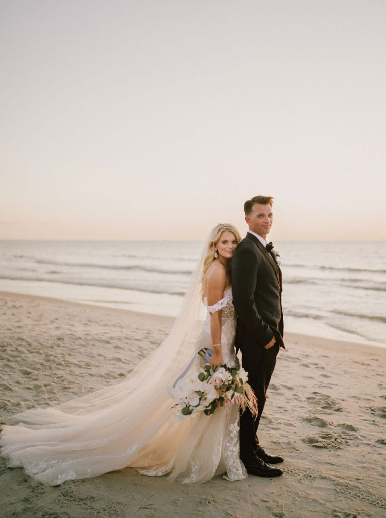 Christa and Cort Hartz exchanged vows and celebrated with a small group at The Naples Beach Hotel & Golf Club.<br/> Photography by Michelle Gonzalez