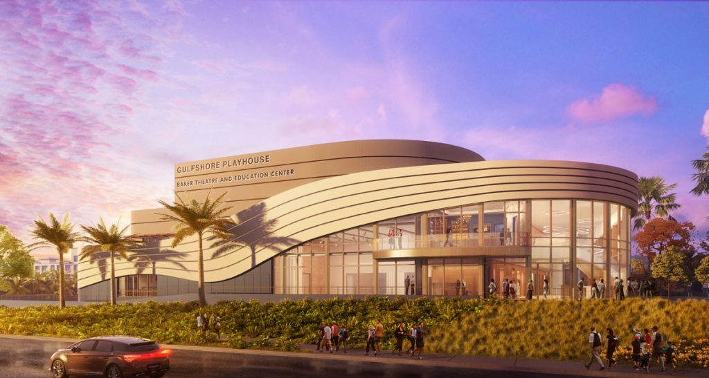 Gulfshore Playhouse Baker Theatre and Education Center rendering