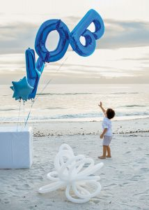 It's A BOY! (Beach) balloons by Ascent by Loretta-25