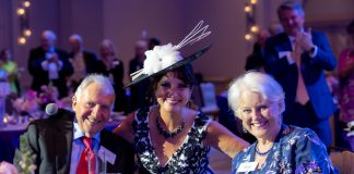 Jay Baker, Kristen Coury, Patty Baker at The Loverly Gala
