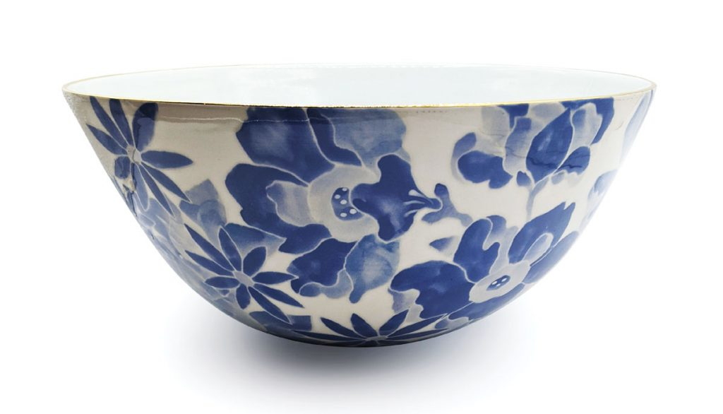 Republic of Decor, Naples Design District, ceramic bowl ($475) is hand-spun and finished with a 14-karat gold rim