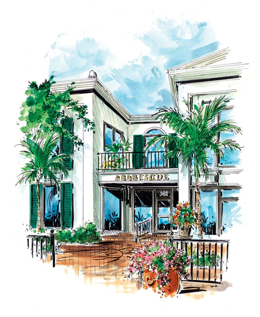 Arabesque Storefront Illustration