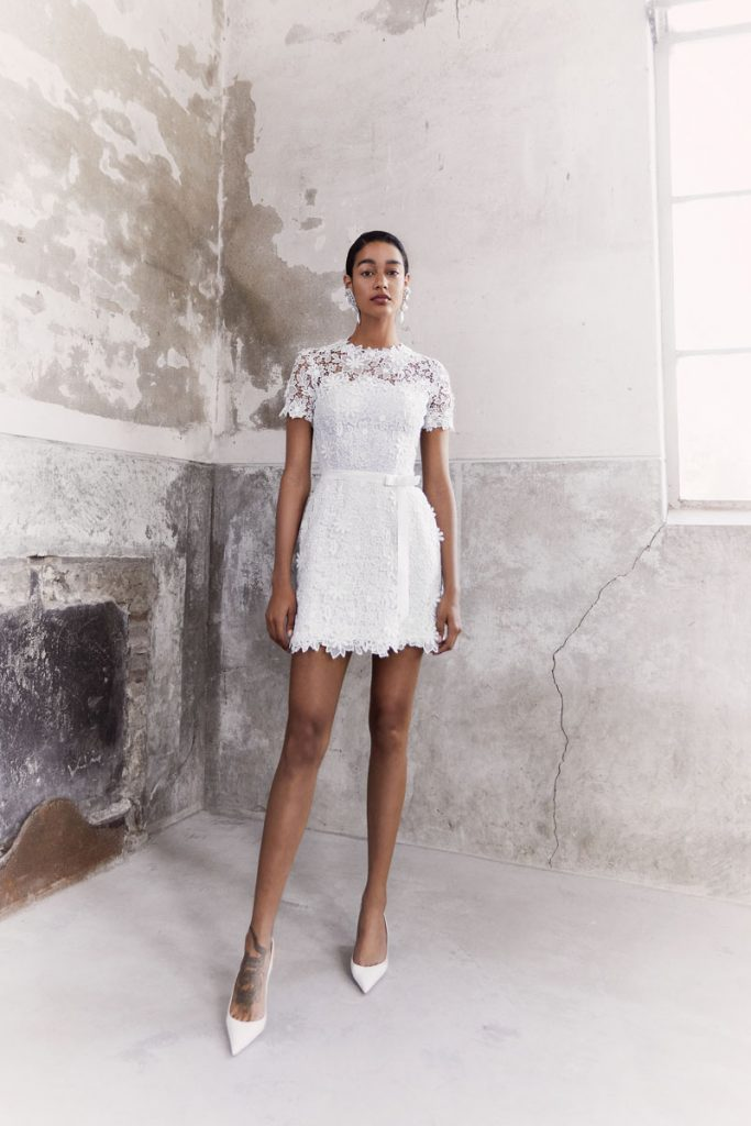 Blooming floral guipure lace dress with detachable grosgrain waistband (price upon request), Viktor & Rolf Mariage, Chernaya Bridal House, Miami, photo by Marijke Aerde