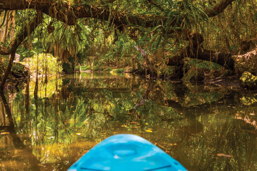 Koreshan State Park Estereo River kayak, The Lee County Visitor & Convention BureauPhoto courtesy of the Lee County Visitor & Convention Bureau