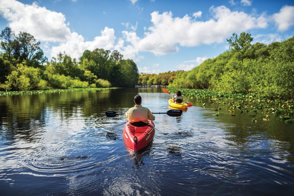 Kayaking in Lake Kissimmee State Park, photo courtesy of Visit Central Florida