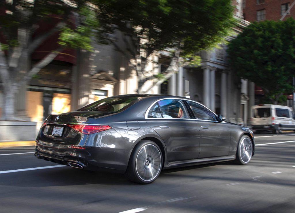 2021 Mercedes-Benz S-Class sedan rear driving