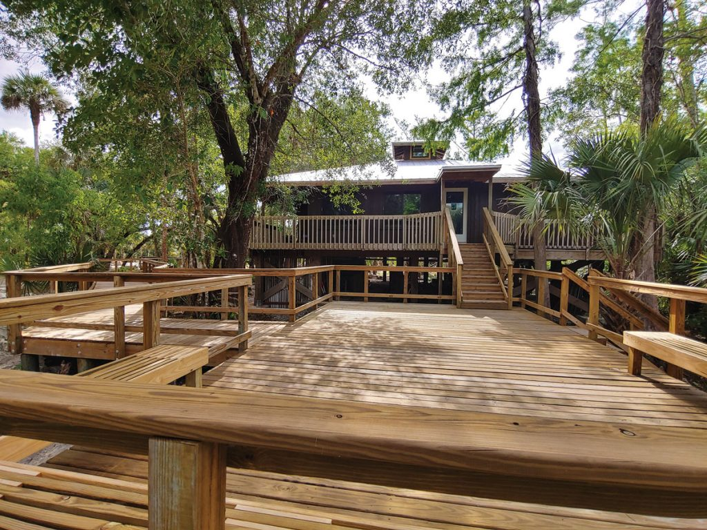 CCL's spacious new events deck, located at the entrance of the Gore Nature Education Center, will provide a gathering place for community events and more