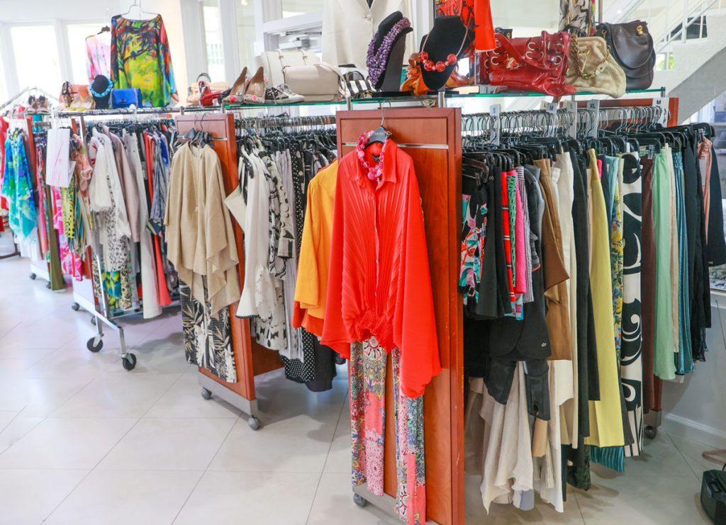 Carolyn's Designer Consignment clothing racks