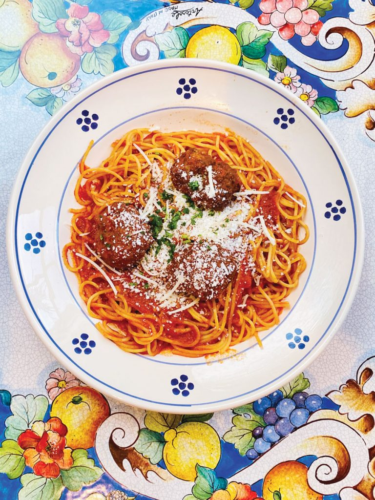 Casa Santo Stefano Spaghetti con Polpette, courtesy Santo Stefano
