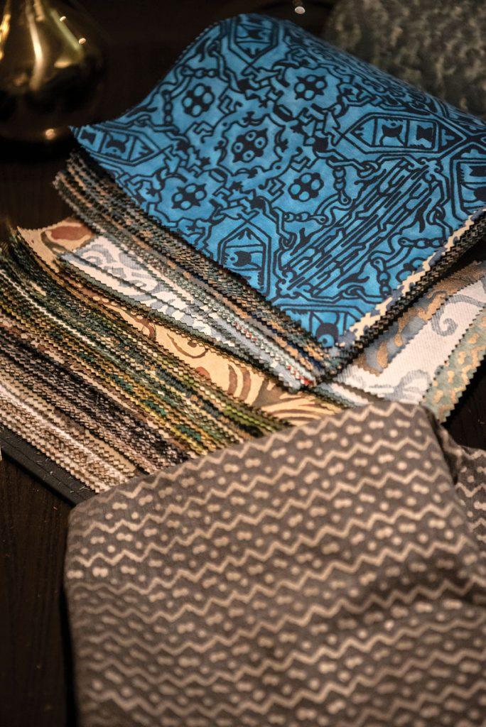 Fortuny textile samples, photo by Erik Kellar