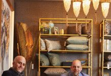 Maury Riad, CEO of Fortuny, and Daniel Lubner, CEO of Clive Daniel Home, in the Fortuny Gallery at CDH