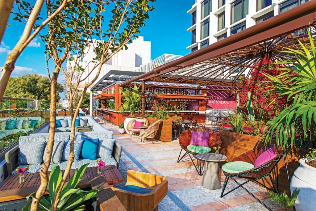Serena Rooftop Garden Restaurant in Miami
