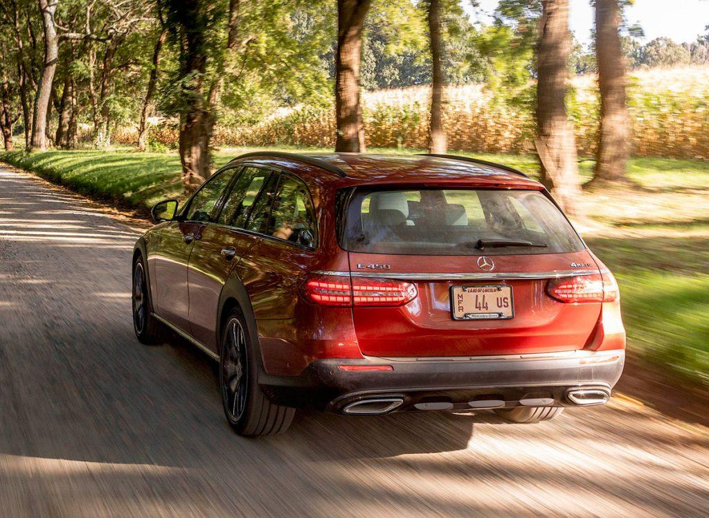 2021 Merc E450 4Matic All-Terrain driving rear