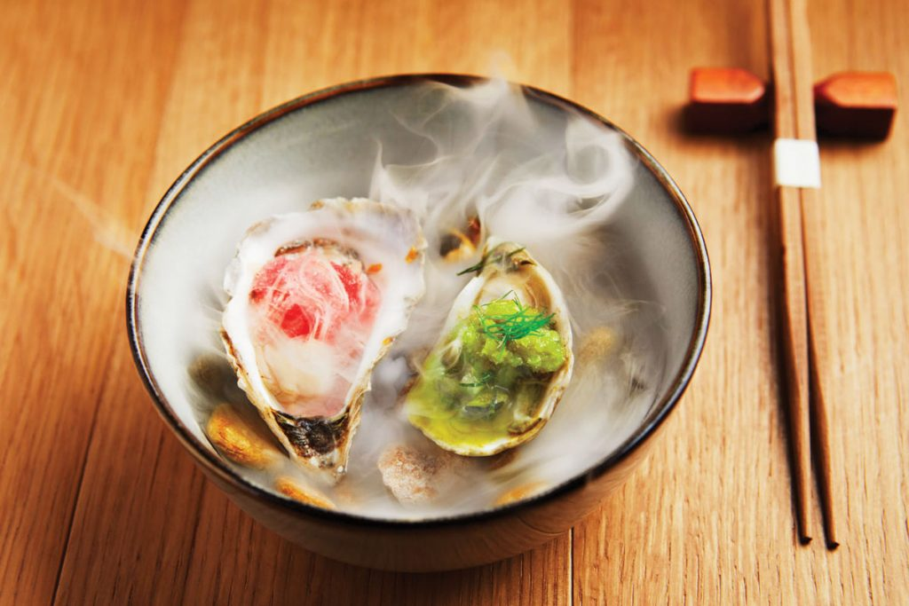 Impressive dishes abound at Soseki, where classically trained chef Mike Collantes joined forces with Tadateru Tokudaiji and Kevin Abanilla to present luxe omakases. photo by Mike Gluckman