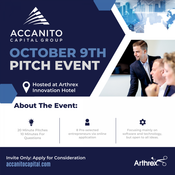 Accanito Capital Pitch Event