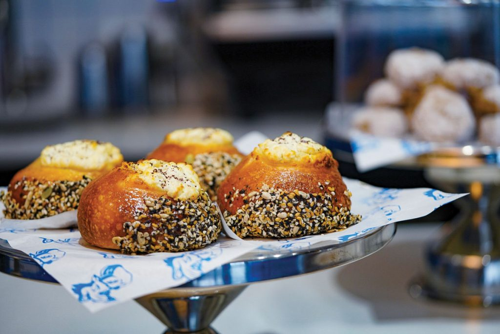 The Bialy is the star of the show at Deli Desires, photo by Terrence Gross