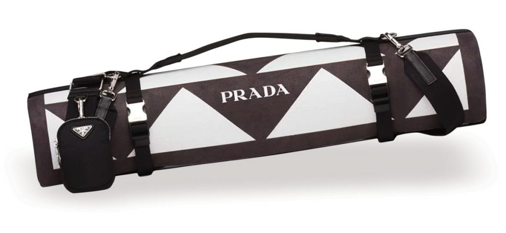 Yoga mat with harness carrier ($1,990), Prada