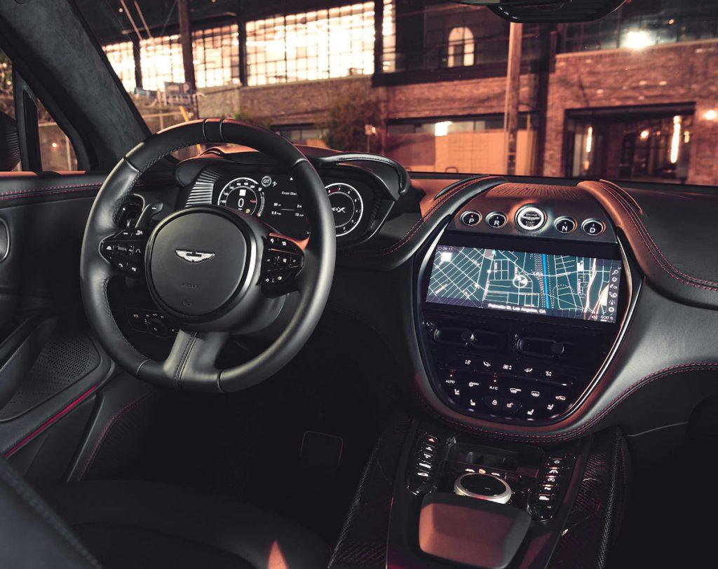 Aston Martin DBX dashboard and steering wheel