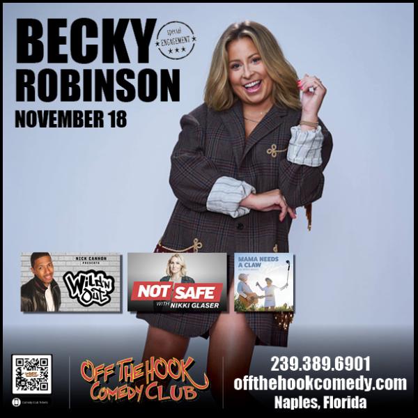 Comedian Becky Robinson