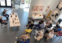 Sculptor Brett Harvey of H&R Studio in Naples led an ARTWORX event in April