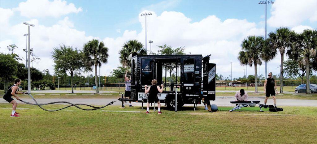 Skokna Strength Performance Unit in a Naples park