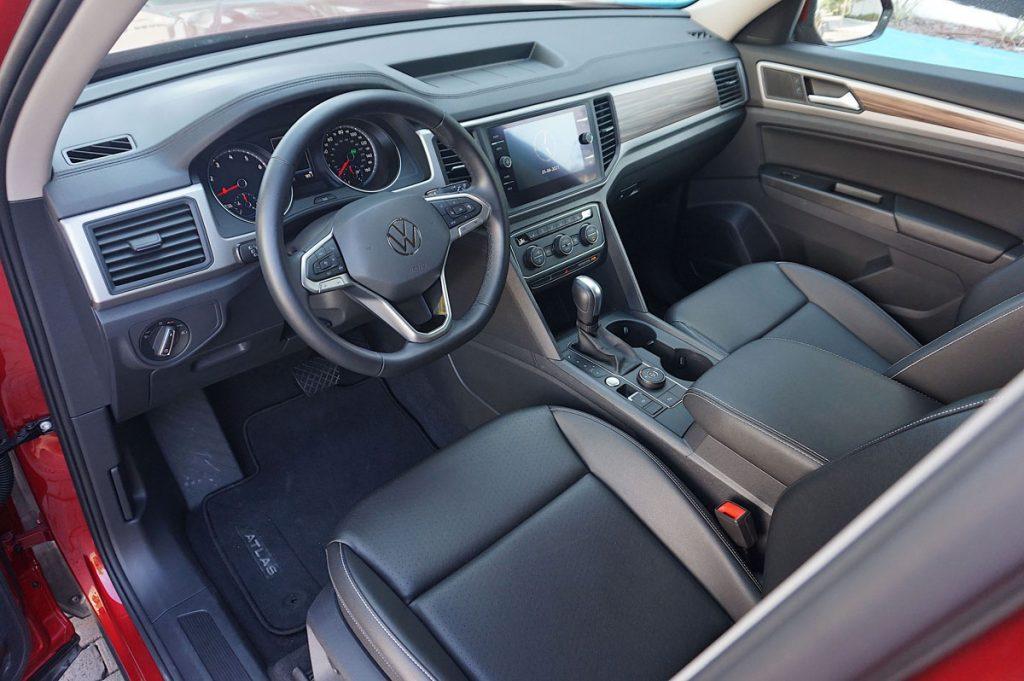 Volkswagen Atlas driver and passenger seats. steering wheel