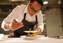 Plating at Chef Thomas Keller's three-star Michelin restaurant, Per Se, in New York City 1
